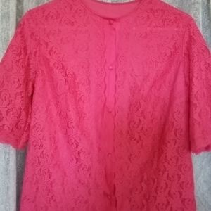 Vintage 1960s Vanity Fair Pajama Top